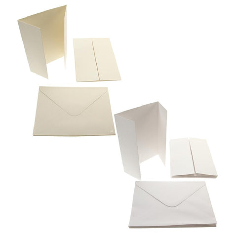 5x7 Gate-Fold Card Blanks 300gsm 10Pk