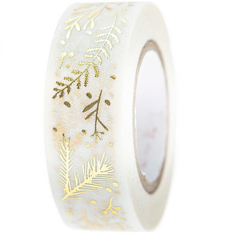 Rico Washi Tape Branches White
