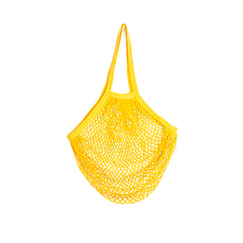 Yellow bag on a white background.