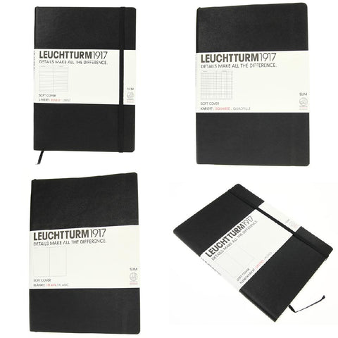 Leuchtturm 1917 Classic Black Softcover Medium Notebooks