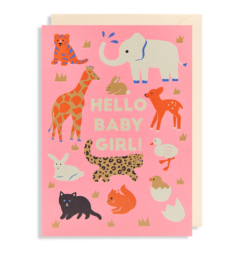 Hello Baby Girl card