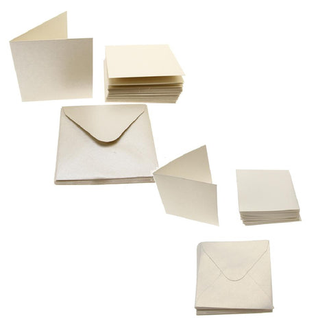 3x3 Pearl Card Blanks 300gsm 20Pk
