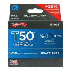 "Arrow T50 Staples 8mm 5/16"" #505"