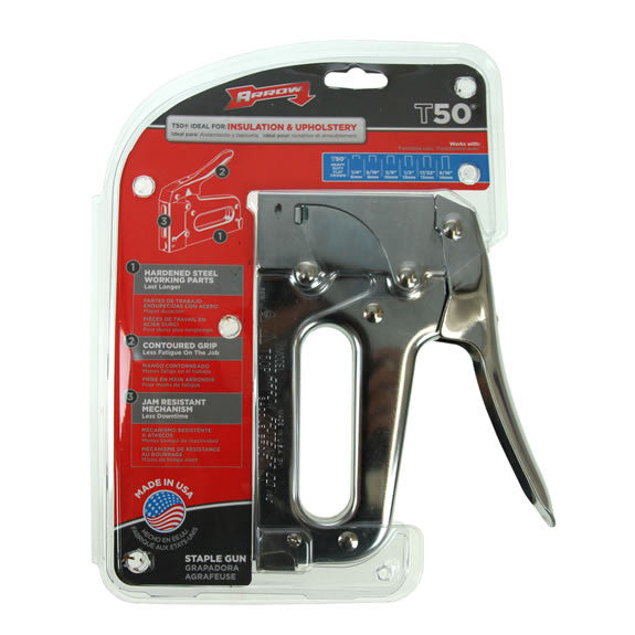 Arrow T50 - Professional Heavy Duty Staple Gun Tacker