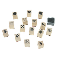 Rico - Stamp Set Patchwork Family 15 Stamps A 2.8x2x2 cm
