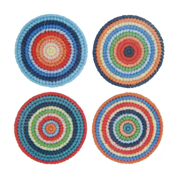 Rico - Saucer Kit. Col. Designs Sx4 D7.8 cm. Plastic Canvas