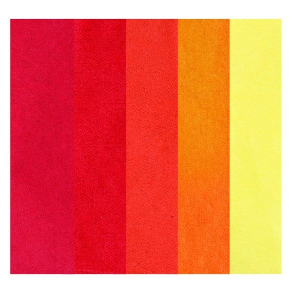 Rico - Tissue Paper. Assorted Red 5 Pcs. 50x70 cm. 20 G