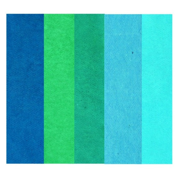Rico - Tissue Paper. Assorted Blue 5 Pcs. 50x70 cm. 20 G