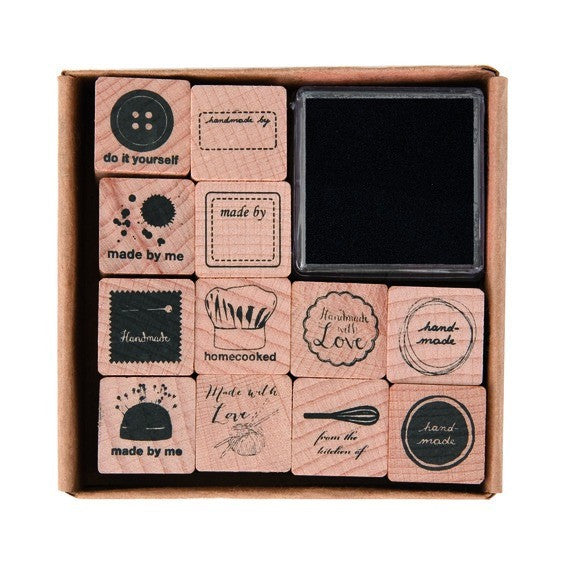Rico - Stamp Set Do It Yourself 12 Pcs. 20x20 mm