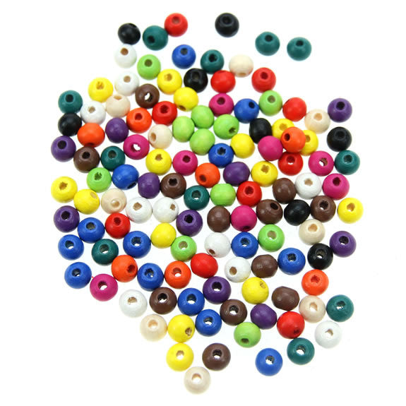 Rico - Wood Beads Multcol. 125 x 6 mm6 mm