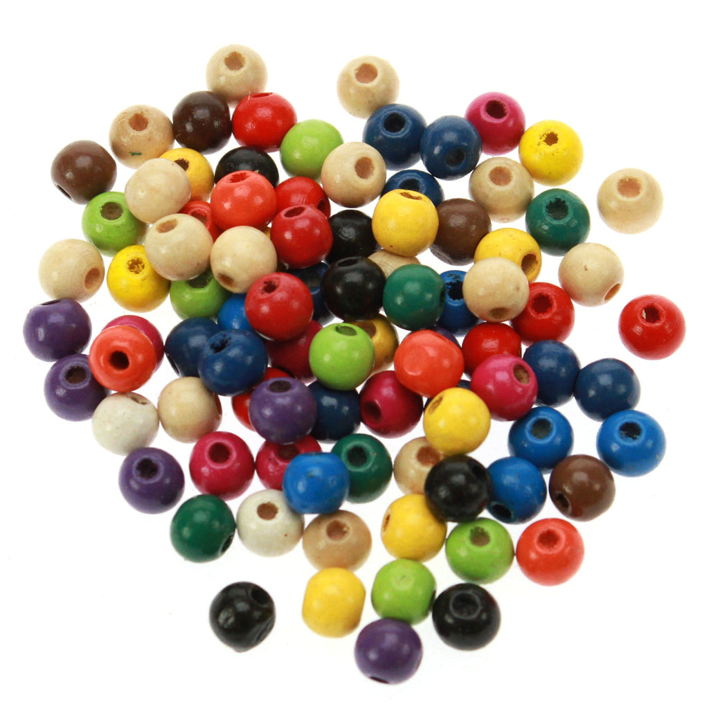 Rico - Wood Beads Multcol. 90 x 8 mm 8 mm