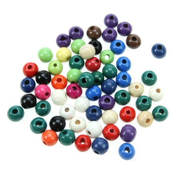 Rico - Wood Beads Multcol. 60 x 10 mm10 mm