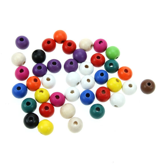 Rico - Wood Beads Multcol. 40 x 12 mm12 mm