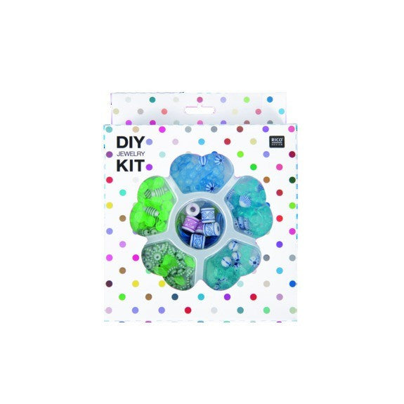 Rico - Diy Jewellery Kit Blue. Green 16x20x4cm. Diy Jewellery Kit Default Title
