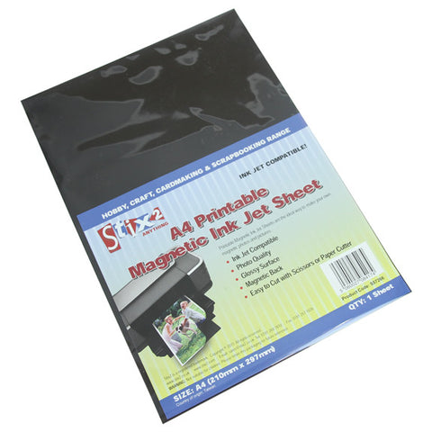 A4 Printable Magnetic Ink Jet Sheet - Pack Qty 1
