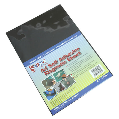 A4 Self Adhesive Magnetic Sheet - Pack Qty 1