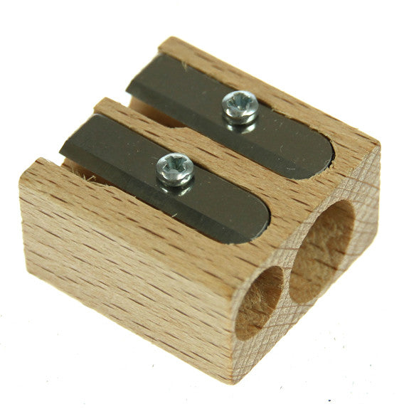 M+R Wooden Sharpener Double