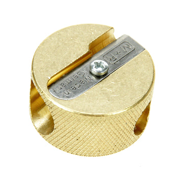 M+R Professional Solid Brass Circular Double Hole Sharpener