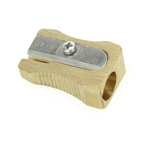 M+R Professional Solid Brass Wedge Single Hole Sharpener