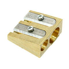 M+R Professional Solid Brass Wedge Doublen Hole Sharpener