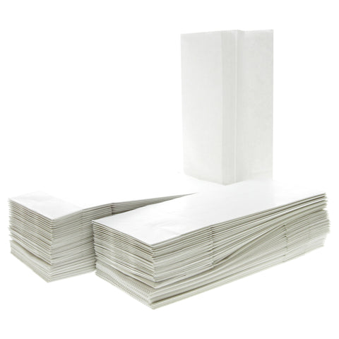 100 White Paper Bags