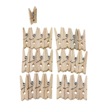 Rico - 25 Mini Pegs - Natural