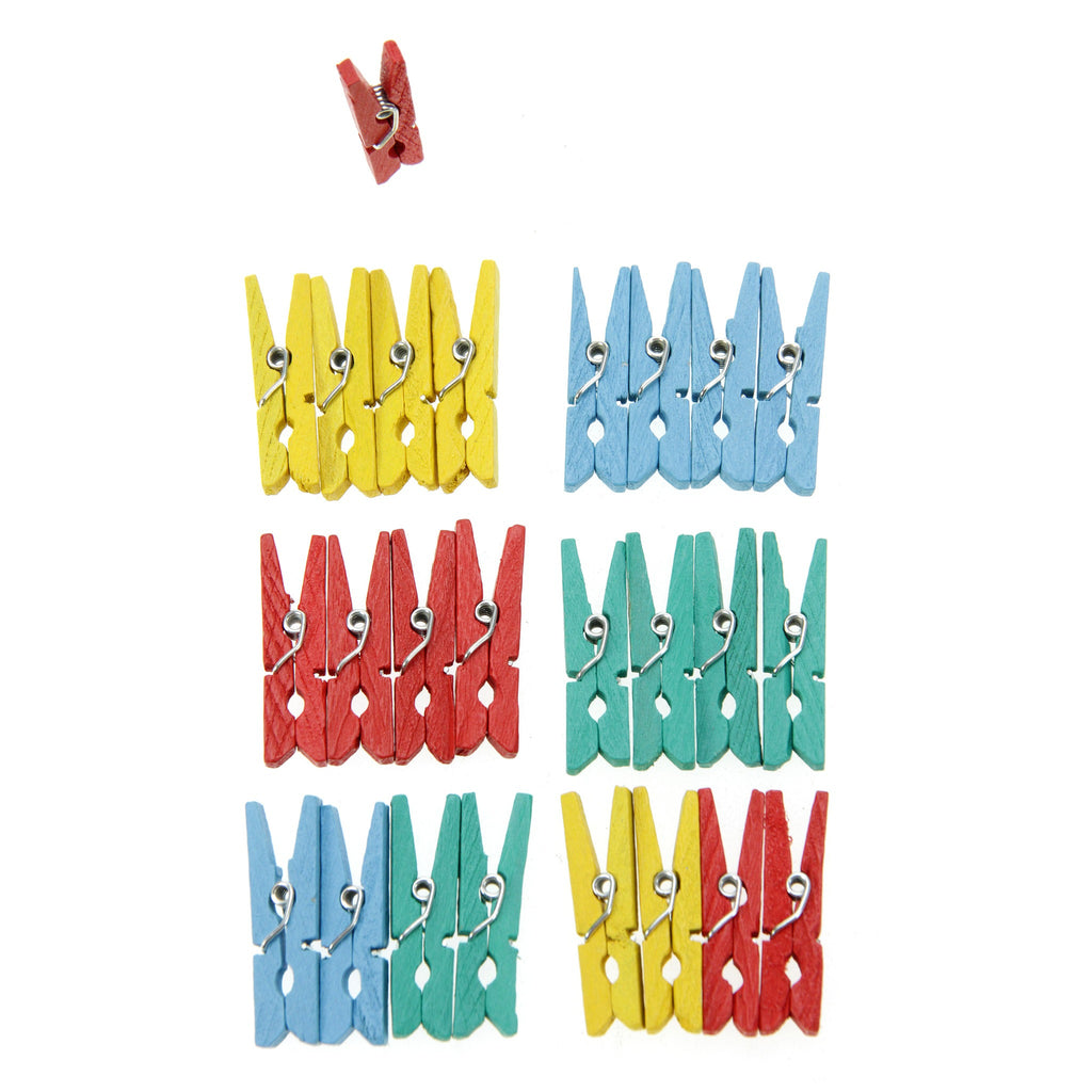 Rico - 25 Mini Pegs - Multicoloured