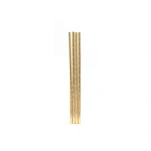 Paper Straws - Gold - 144