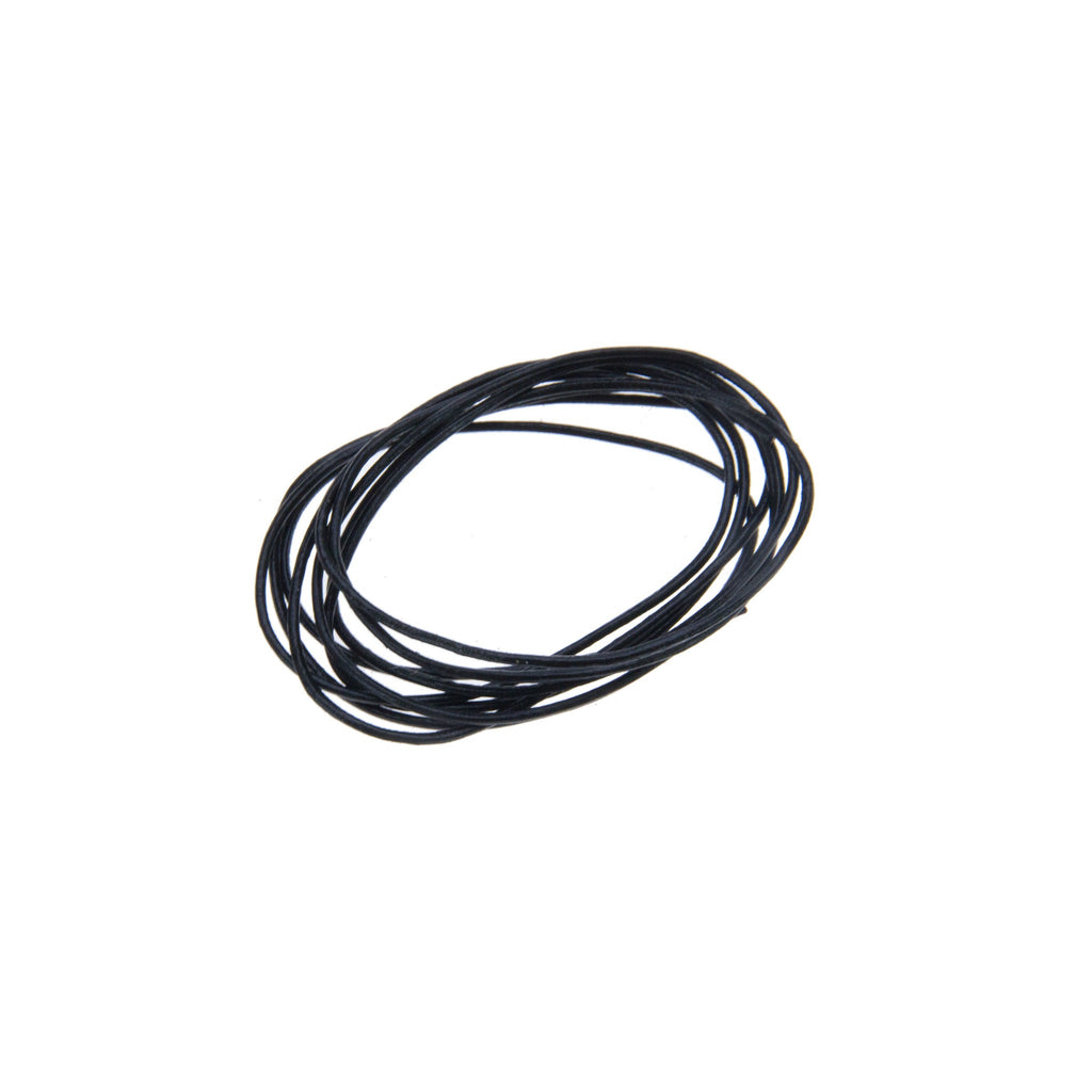 Rico - Leather-Cord Black 1 Meter