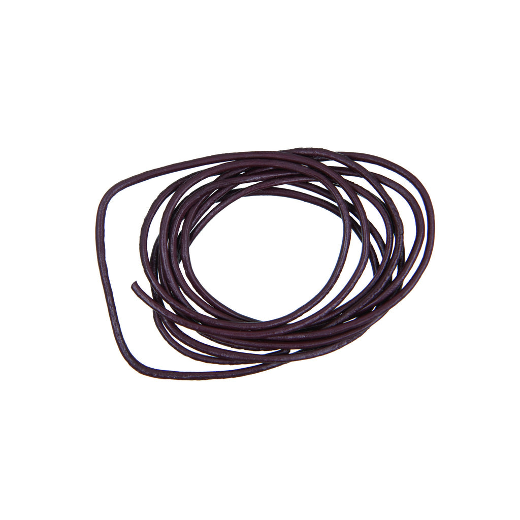 Rico - Leather-Cord Dark Brown 1 M