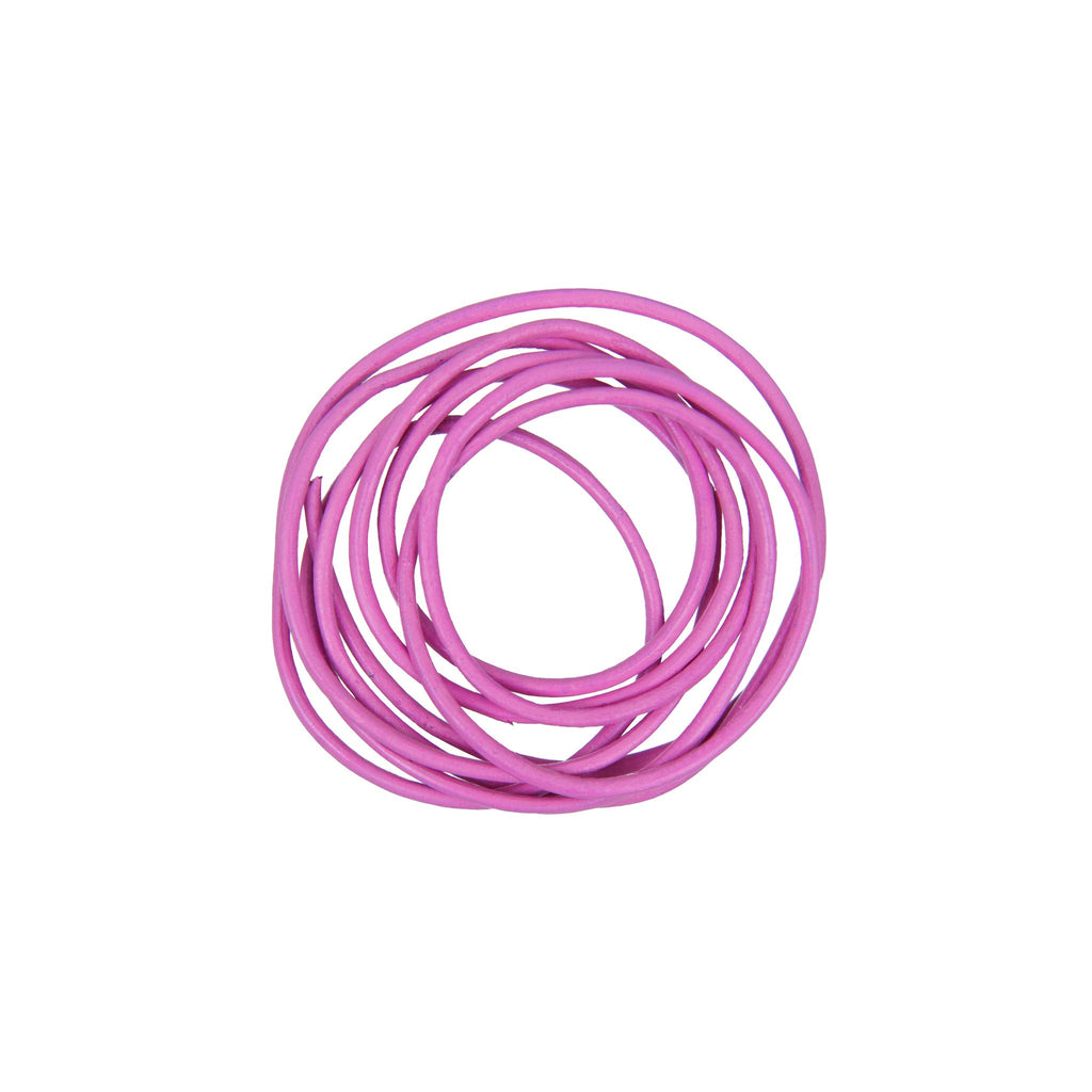 Rico - Leather-Cord Magenta 1.5mm-1m