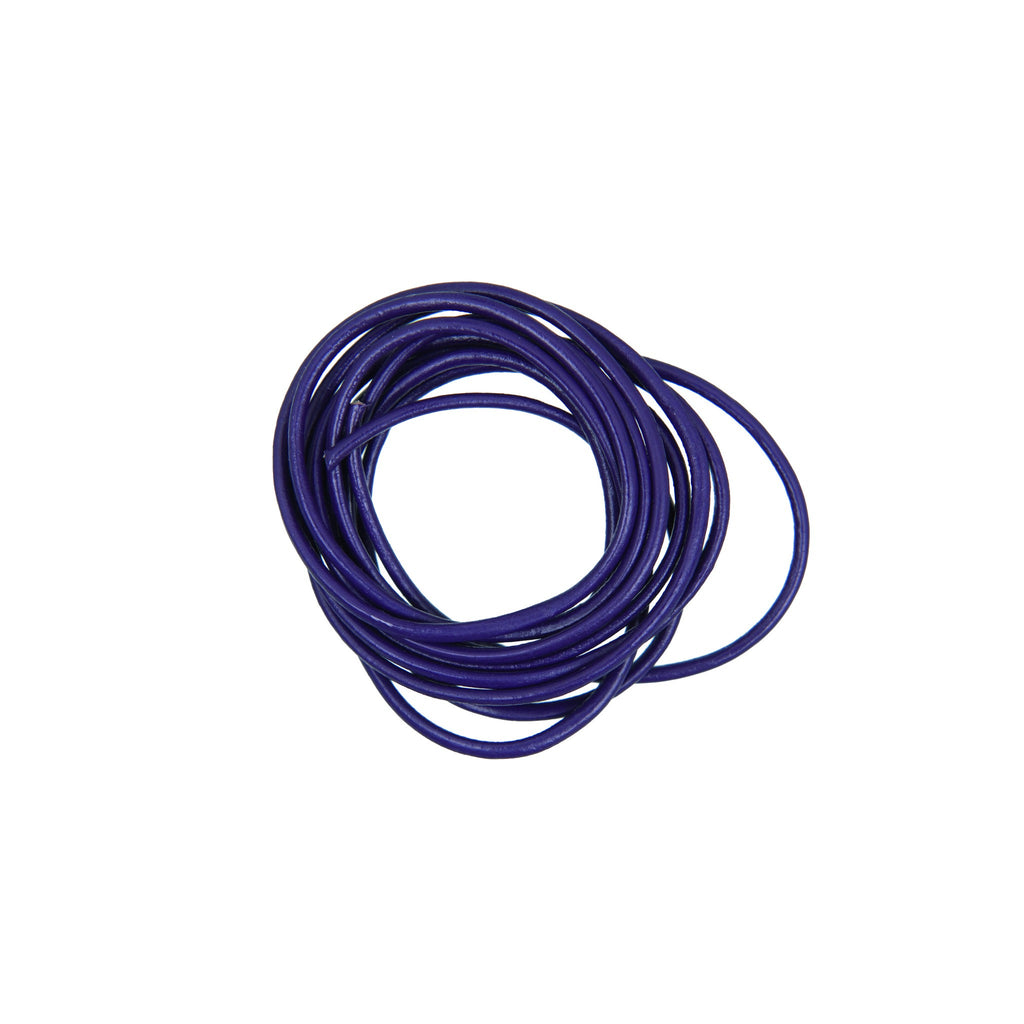 Rico - Leather-Cord Dark Lilac 1.5mm