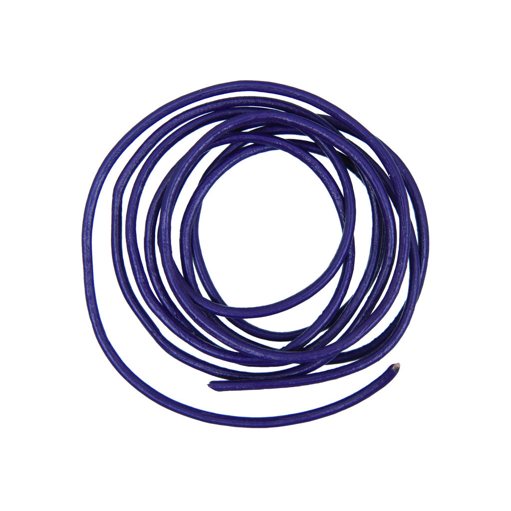Rico - Leather-Cord Dark Lilac 2mm-1M