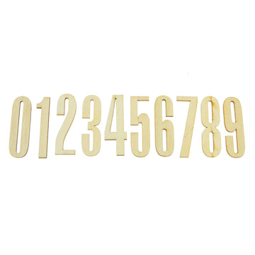 Wooden Numbers 1-0 (10pcs)