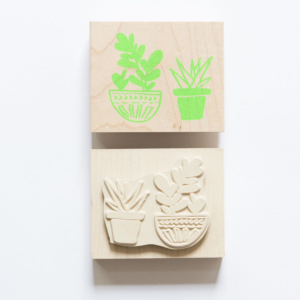 Yellow Owl Workshop Stamp - Cacti Stamp