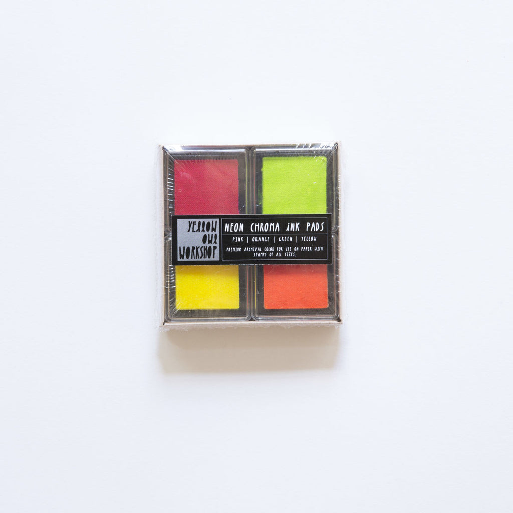 Yellow Owl Workshop Chroma Ink Pads - Neon Pink/Orange/Green/Yellow