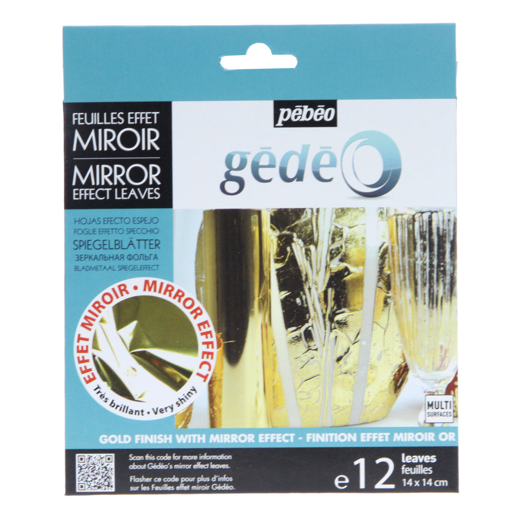 Gedeo Gold Effect Mirror Leaf 12 Sheets