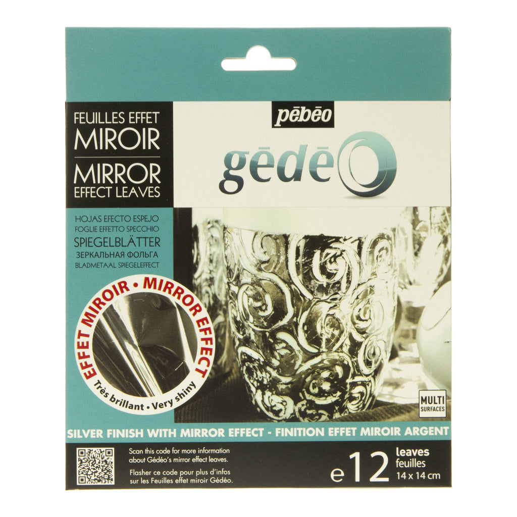 Gedeo Silver Effect Mirror Leaf 12 Sheets