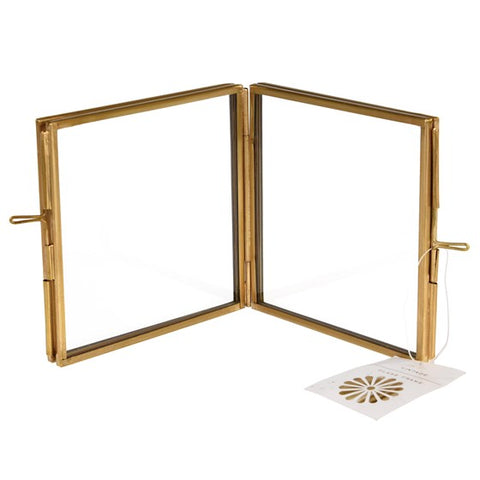 Rex Brass 4 Sided Square Photo Frame