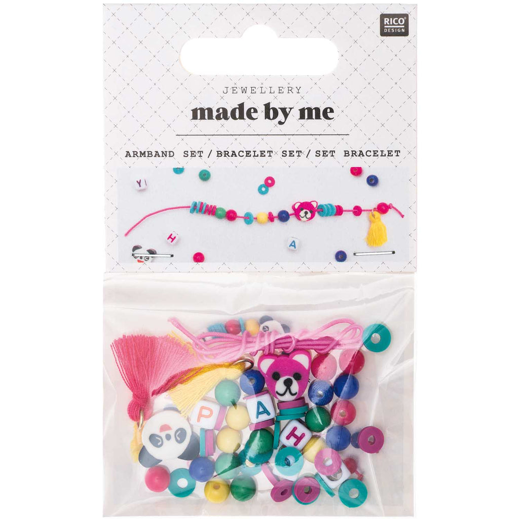 Rico Mini Bead Bracelet Set - Happy