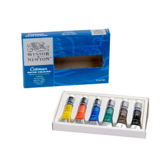 W&N Cotman Watercolours 6 Tube Set
