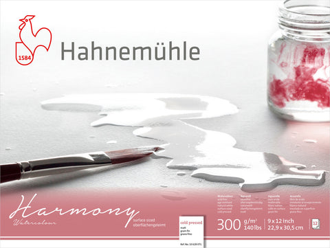 "Hahnemuhle Harmony Watercolour 300gsm Cold Pressed 9""X12"""
