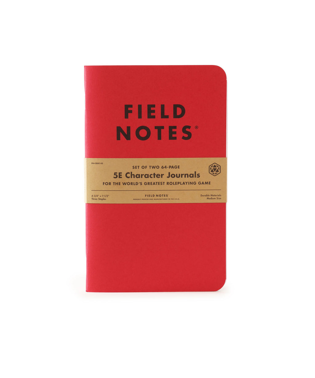 Field Notes 5E Character Journals