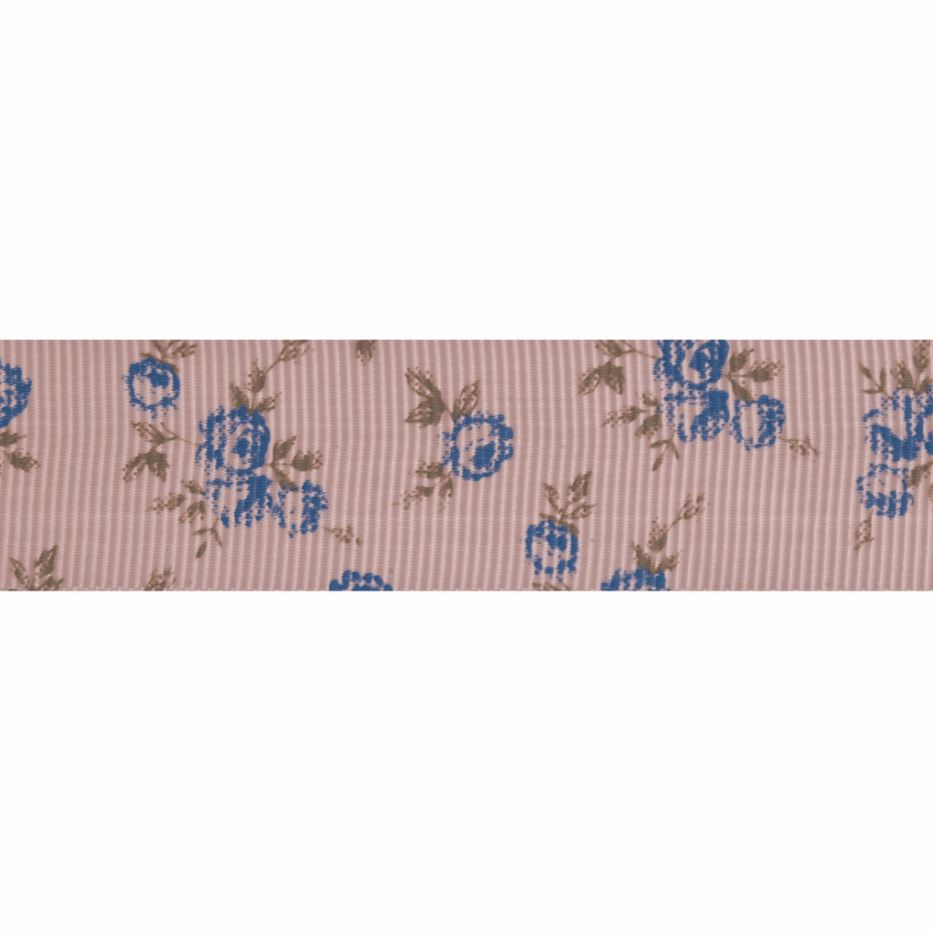 Grosgrain - 5m x 22mm - Blue Rose - Pink