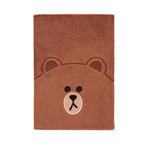 Plush Notebook - Brown