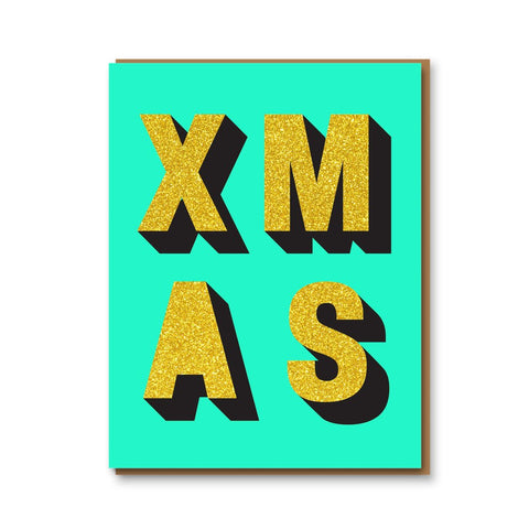 Glitter Xmas Box of 8 Cards