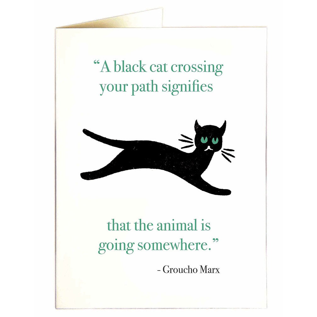 Cat Crossing Path Card