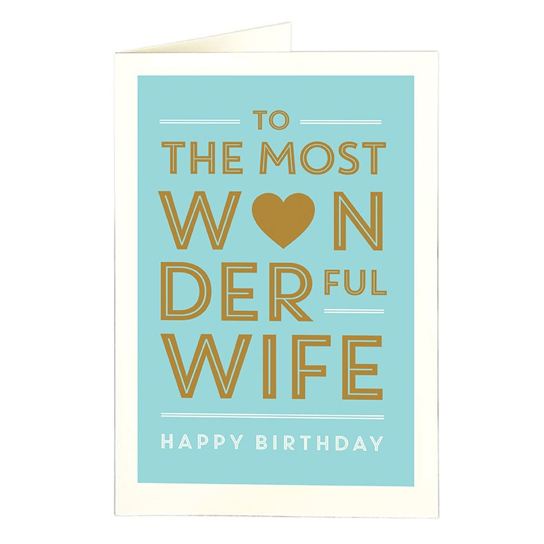 Wonderful Wife Card