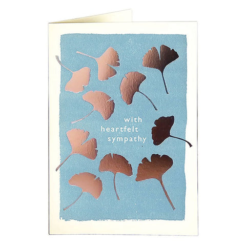 Sympathy Leaves Card