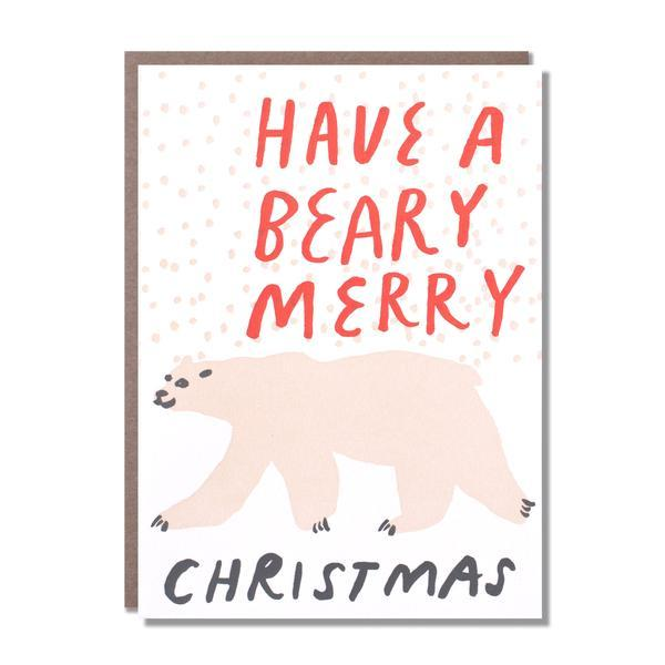Egg Press Polar Bear Christmas - Card